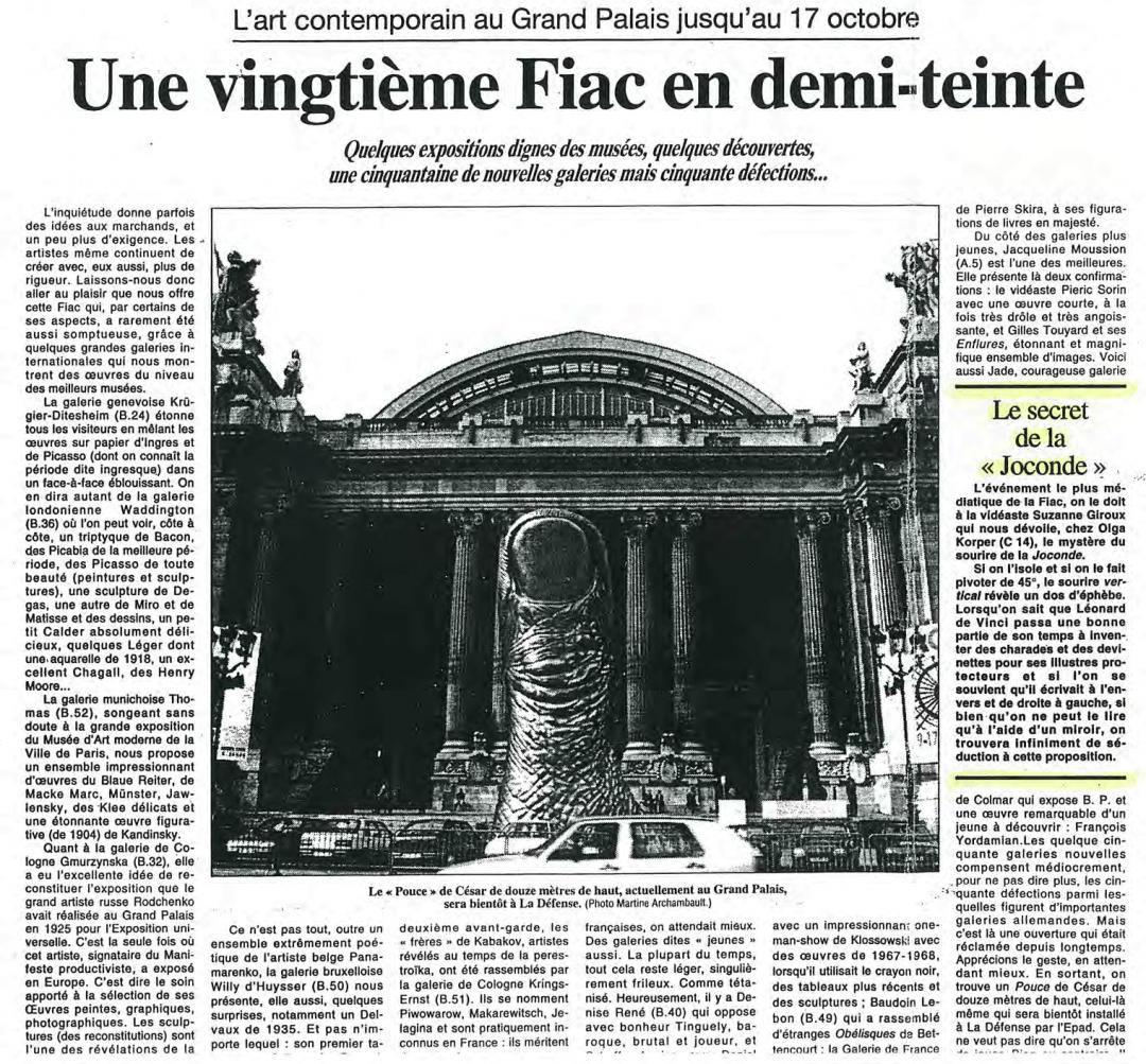 Le Figaro, Michel Nuridsany